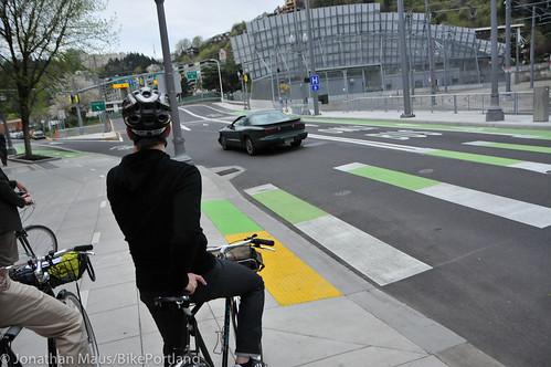 Bike Advisory Committee rides downtown-17