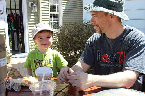 Friends of the Occoquan River Cleanup - Sagan and Ryan At Lunch II