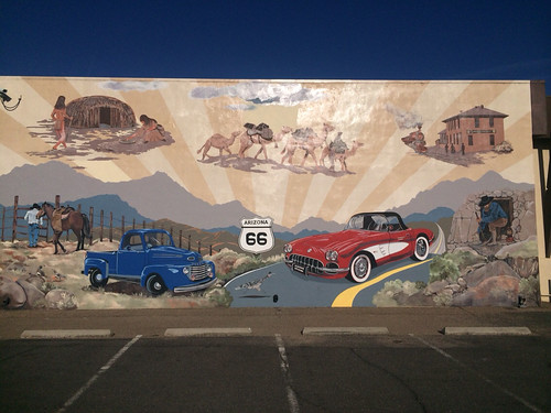 Colorful Route 66 Mural, Mohave Museum @ Kingman, Arizona 04.2014