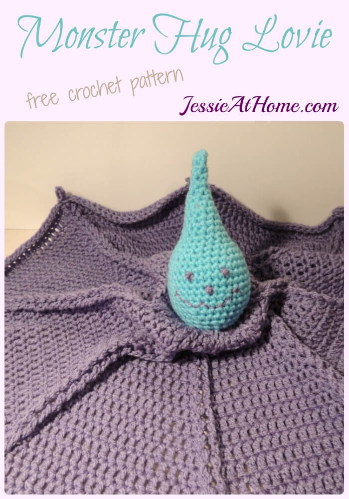 Monster Hug Lovie - free crochet pattern by Jessie At Home