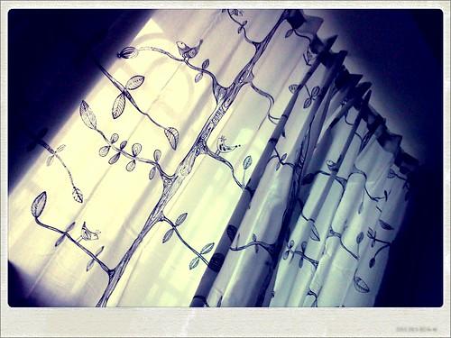 臥室換新窗簾了!  New curtain~ by 南南風_e l a i n e