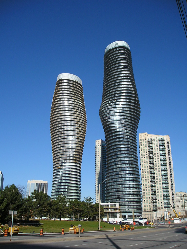 Marilyn Monroe Condo - Square One  gracing the Mississauga Skyline
