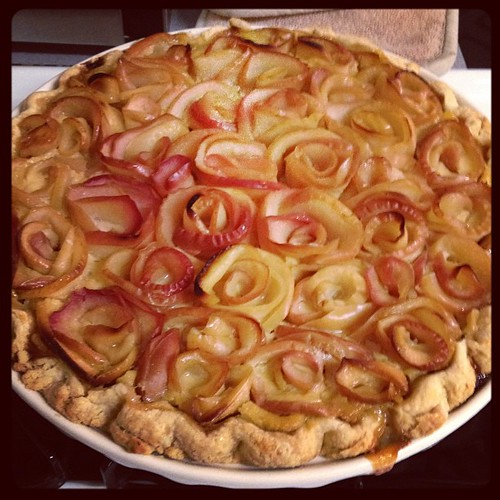 Apple Rosette Pie