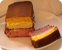 Angel cake, three layers