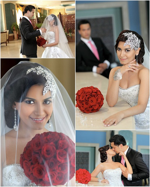 Nargiza & Sukhrob, bridal headpiece by Bridal Styles New York