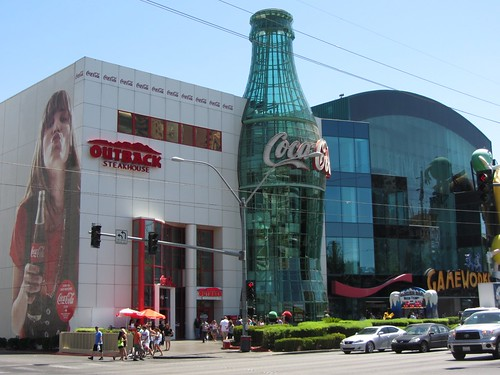 Strip Mall with Coca Cola, Gameworks, Outback and M&Ms Stores