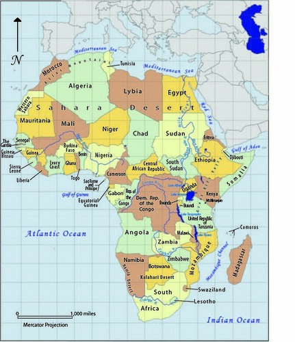 My Reference Map of Africa uwecgeog200hetzelsg