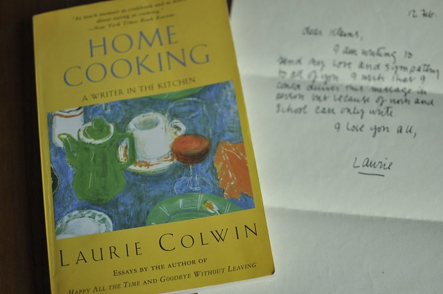 Home Cooking and a letter from Laurie
