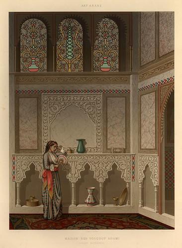014-Salon de la casa de Youçouf Adami-L'art arabe d'apres les monuments du Kaire…Vol 3-1877- Achille Prisse d'Avennes y otros.