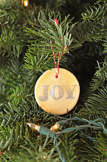 Stamped salt-dough ornaments
