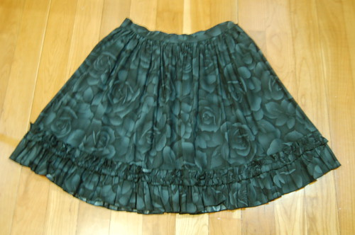 Lolita Closet Count! Skirts: Black - In the Starlight Rose Print