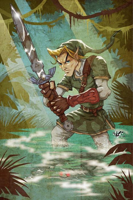 Desenhos nerds - Zelda Link