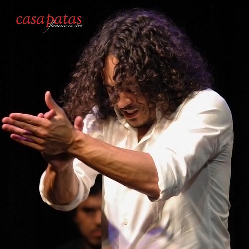 David Paniagua actuando en nuestro tablao. Foto: Martín Guerrero