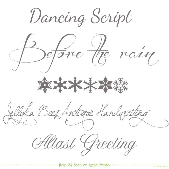 Top 5 festive type fonts todays top 5 festive fonts m4hsunfo