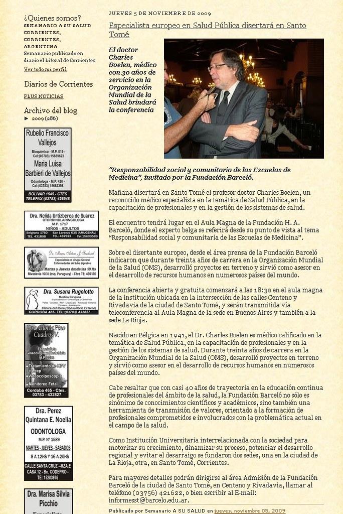 Blog A su Salud 05-11-09