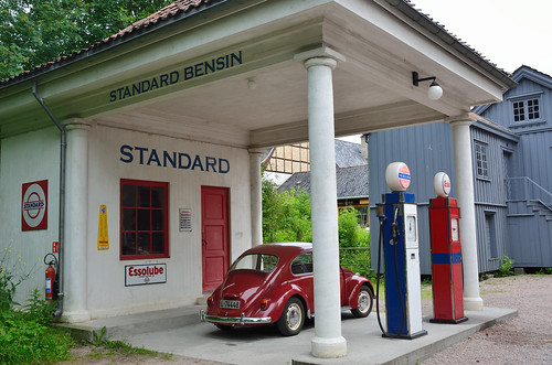 Old Petrol Station at at Norsk Folkemuseum