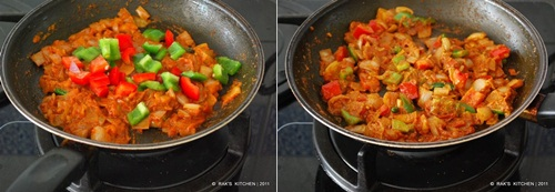 How to make kadai paneer step3