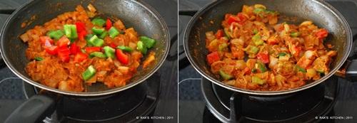 How to make kadai paneer step3