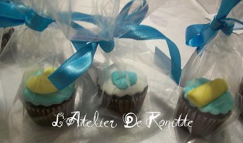 Erkek Bebek Doğum Cupcakeleri by l'atelier de ronitte