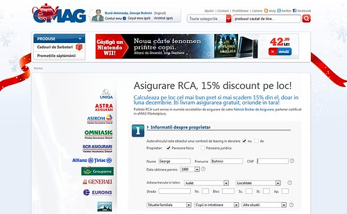 RCA de la eMAG 1