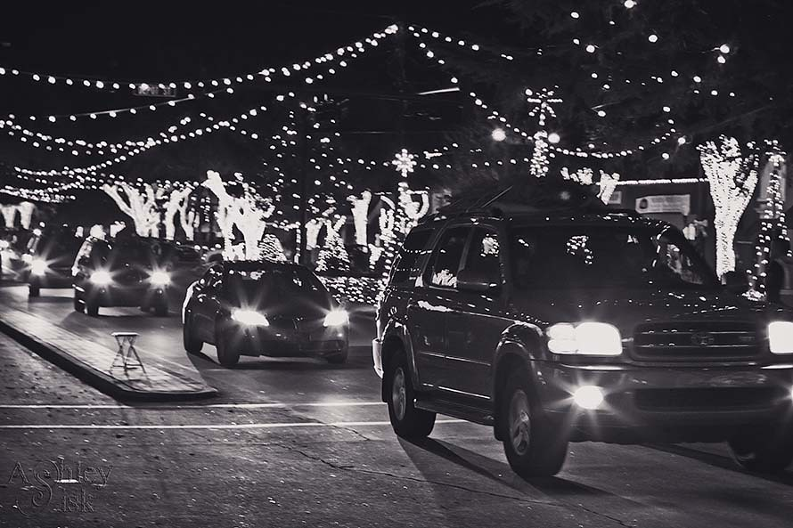 Driving through Christmas Lights RS