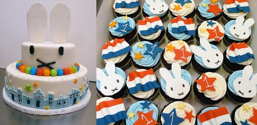 Nijntje cake and cupcakes by CAKE Amsterdam - Cakes by ZOBOT