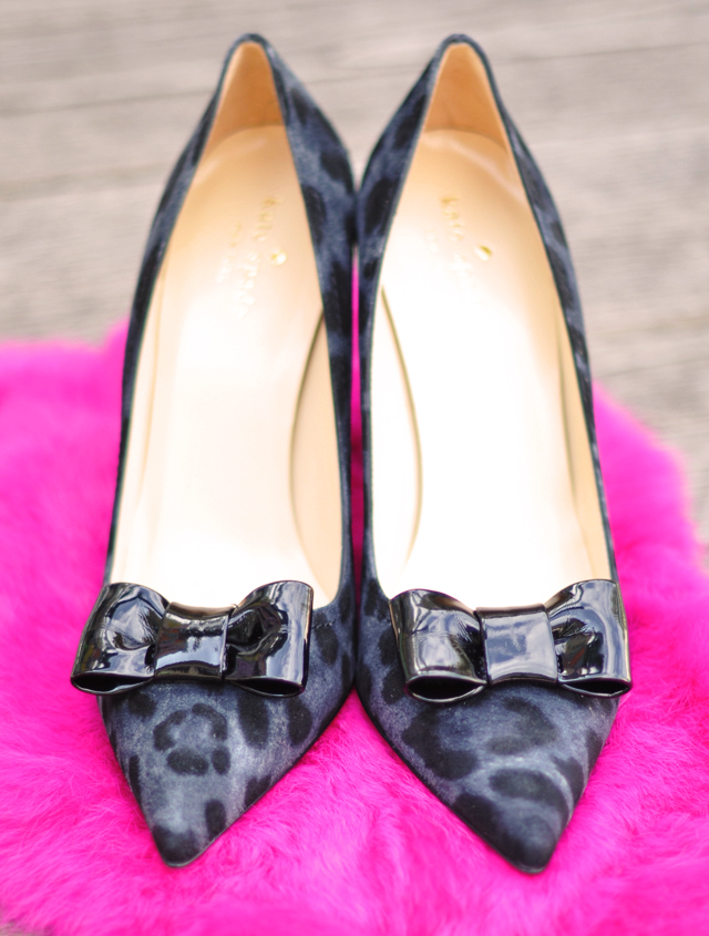 kate spade shoes -leopard print shoes with bows