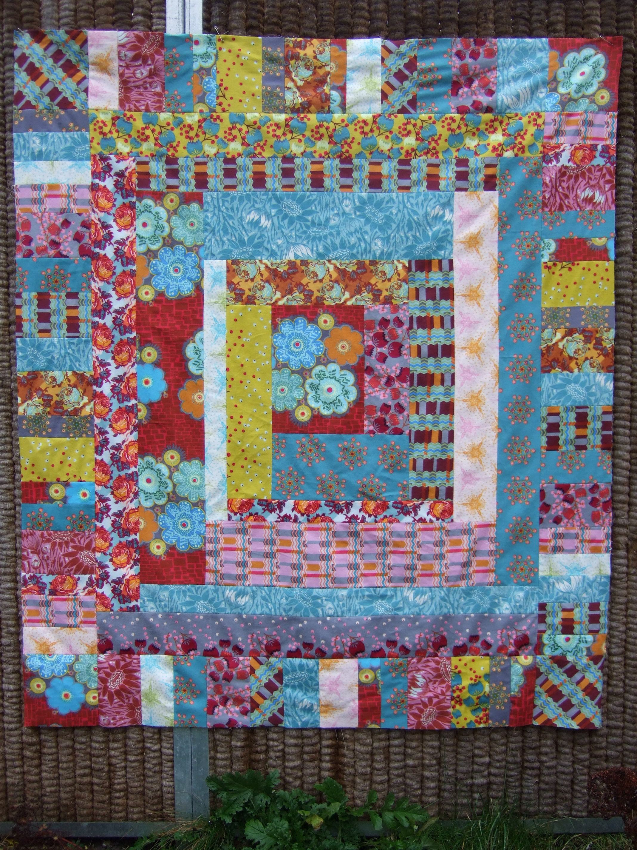 Loulouthi flannel quilt top