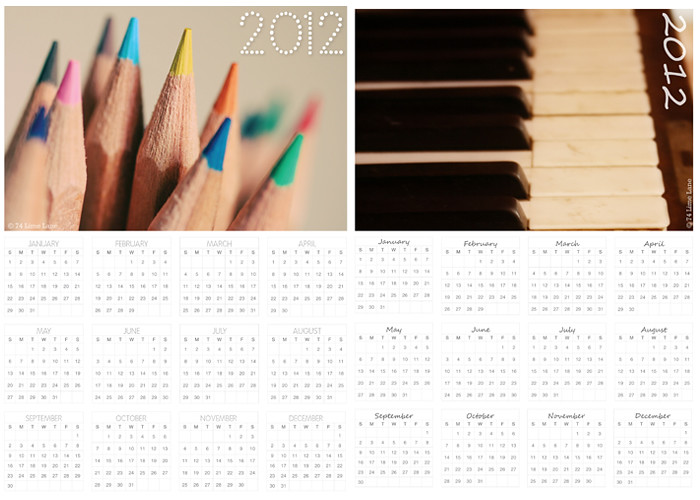 quick gifts ~ 2012 calendars