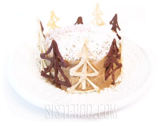 Creamy Walnut Cake with Penuche Icing