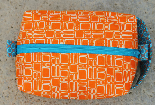 Orange Boxy Pouch