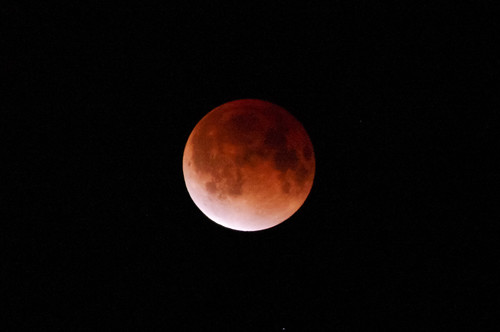 2011 1210 皆既月食(Total eclipse of the moon) by monoblogoo