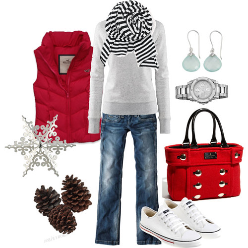 Christmas shopping style fashion outfit