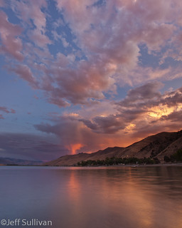 Topaz Lake Evening Cloud Reflection