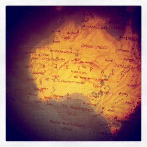 Australia (on my globe)