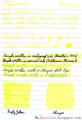 Noodler's Firefly Yellow