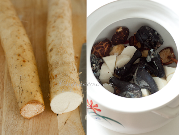 Chinese Yam and Black Chicken Soup 山药乌鸡汤