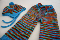 Coastal Sunset Longies and Hat Set w/Optional Diaper