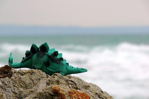 Dinosaurus at the beach