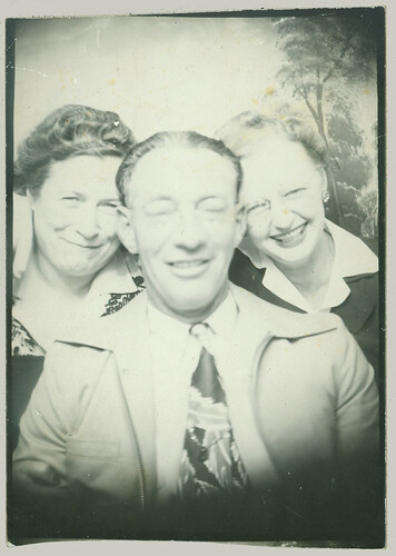 Three in a photobooth