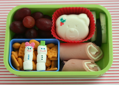 mixed Christmas bento lunch