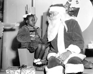 Joan Wilson of St. Augustine confides in Santa