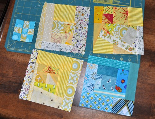 scrap blocks, tiny 9-patch