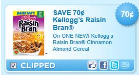 Raisin Bran Cinnamon Almond Cereal Coupon