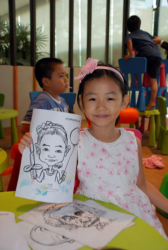 caricature live sketching for Foresque Residences Roadshow - Day 2 - 1