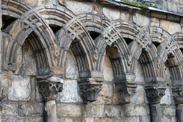 Blind arcade, Holyrood Abbey