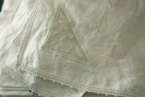 old linens and lace