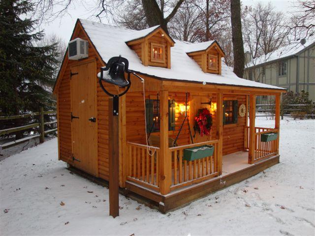 Pine Log Cabin Playhouse In Winter Unwrap Hours Of Imagina Flickr