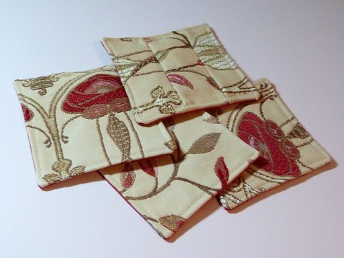 Swatch coasters by KittyStitch