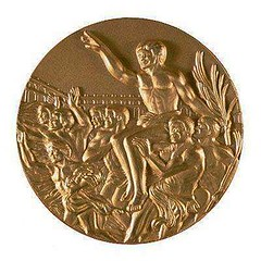1984 Los Angeles Olympic medal reverse